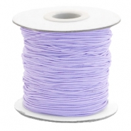 Coloured elastic cord 1mm Lavender Purple