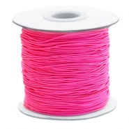 Coloured elastic cord 1mm Fuchsia Pink