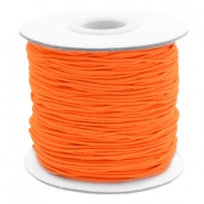 Coloured elastic cord 1mm Fluor Orange