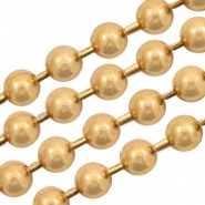 Basic Quality metal ball chain 1.5mm Gold