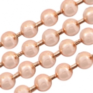 Basic Quality metal ball chain 1.2mm Rose Gold