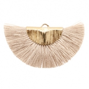 Tassels charm Gold-Misty Grey Rose