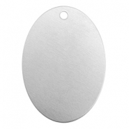 ImpressArt stamping blanks charms oval 25x18mm Alkeme Silver