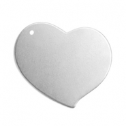 ImpressArt stamping blanks charms heart 18mm Alkeme Silver