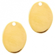 Designer Quality metal for ImpressArt charm oval 21x16mm Gold (nickel free)
