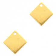 Designer Quality metal for ImpressArt charm square 10mm Gold (nickel free)