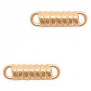 DQ European metal charms connector tension spring Rose Gold (nickel free)