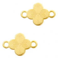 DQ European metal charms connector cross Gold (nickel free)
