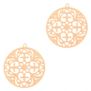 Bohemian charms round 20mm Rose Gold