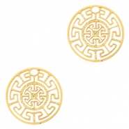 Bohemian charms geometric 13mm Gold