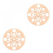 Bohemian charms round 14mm Rose Gold