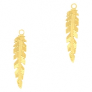 Bohemian charms feather Gold