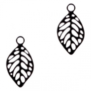Bohemian charms leaf Black