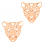 Bohemian connectors leopard Rose Gold