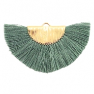Tassels charm Gold-Army Green
