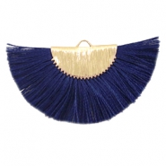 Tassels charm Gold-Dark Midnight Blue