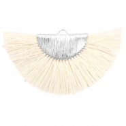 Tassels charm Silver-Off White
