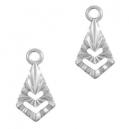 Stainless steel charms drop Silver