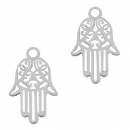 Stainless steel charms Hamsa hand Silver
