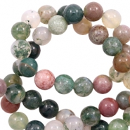 4 mm natural stone beads agate Green Mix