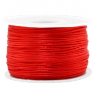 Macramé bead cord 1.5mm satin Red