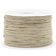 Waxed cord 1mm Greige