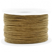 Waxed cord 1mm Khaki Brown