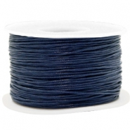 Waxed cord 1mm Dark Blue