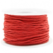 Waxed cord 1.5mm Warm Red