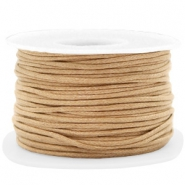Waxed cord 1.5mm Camel Brown