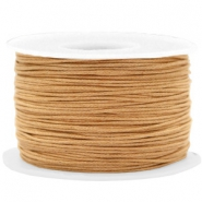 Waxed cord 1mm Camel Brown