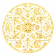Bohemian charms round mandala Gold (nickel free)