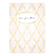 "Jewellery cards ""Love you Mom"" Rose"