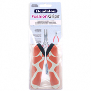 Beadalon Fashion Grips Tool Covers Giraffe Orange-White