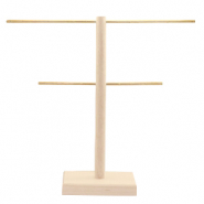 Jewellery display T-From with wooden standard Natural (natural wood colour)