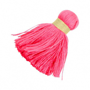 Ibiza style tassels 3.6cm Gold-bright pink
