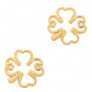 DQ European metal charms connector clover Gold (nickel free)