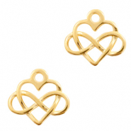 DQ European metal charms heart & infinity Gold (nickel free)