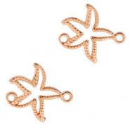 DQ European metal charms connector seastar Rose Gold (nickel free)