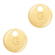 Metal charms initial G Gold (nickel free)