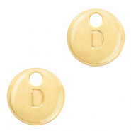 Metal charms initial D Gold (nickel free)