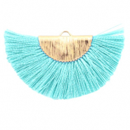 Tassels charm Turquoise Blue-Gold