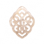 Resin pendants rhombus baroque Light Semolina Beige
