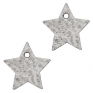 DQ European leather charms star Concrete Grey
