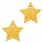 DQ European leather charms star Mineral Yellow