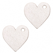 DQ European leather charms heart Sweet Corn Grey