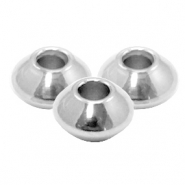 Stainless Steel findings beads disc 4x2.5mm (Ø1.5mm) Silver