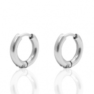 Stainless Steel earrings creole 12mm (Ø7mm) Silver