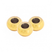 Stainless steel findings round beads 2mm Gold