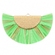 Tassels charm Gold-Neo Mint Green
